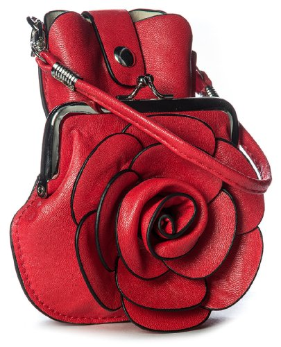 Big Handbag Shop, Borsetta da polso donna One Rosso (rosso)