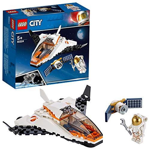 LEGO- City Space Port Juguete de Construcción de Misión: Reparar el Satélite, Color blanco/negro (60224)