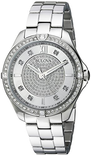 Bulova Women's Quartz Stainless Steel Casual Watch, Color Silver-Toned (Model: 96L236)