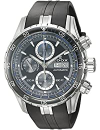 b33a8fd48f5c Edox Men s  Grand Ocean  Swiss Automatic Stainless Steel and Rubber Diving  Watch