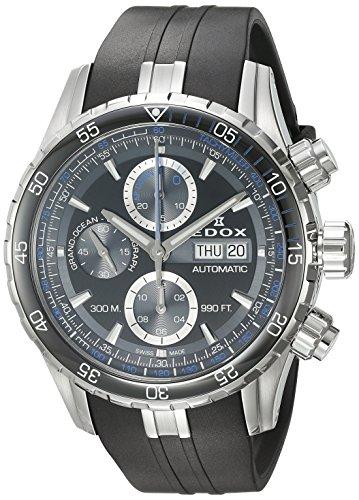Edox 01123 3BUCA NBUN - Reloj analógico para Hombre (Correa de Goma)
