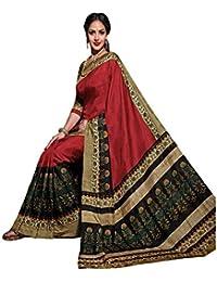 Kanchan Women Wedding Cotton Silk Printed Saree For Ladies & Girls (Dulhaniya_Multi-Coloured)