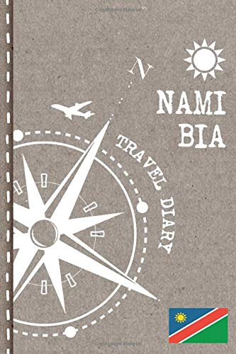 Namibia Travel Diary: Journal To Write In - Dotted Journaling Notebook 6x9, ca. A5, Bucket List Checklist + Dot Grid Point Pages - Travelers Vacation Log Book for Traveling, Welcome, Farewell Gift