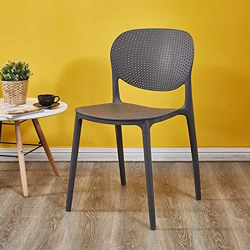 Chaise nordique dos tabouret en plastique à manger chaise adulte simple décontracté maison restaurant café chaise (Couleur : G)