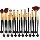 Pennelli Make Up Set Pennelli Trucco,Pennelli Make Up Set Pennelli Trucco,Pinceaux Maquillage Cosmétique Professionnel,Pinselset Make Up Pinsel Set,Profesionales Para Maquillaje Kit,20Pzas Oro Negr