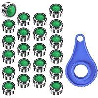 Rovtop Atomizador Ecológico de Agua Aireador para Grifos M24 - Atomizador Ecológico de Boquillas 24 mm con Llave Ingresa, Filtro Grifo para Ahorro de Agua de Cocina/Baño Grifo (Verde)
