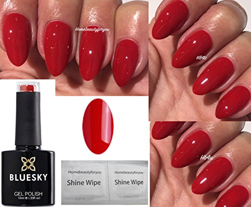 BLUESKY qxg45 Classic rot Nagellack-Gel UV-LED-Soak Off 10 ml