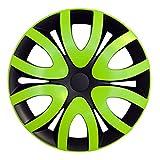 (Farbe & Größe wählbar) 16 Zoll Radkappen MICKY Grün passend für fast alle Fahrzeugtypen – universal
