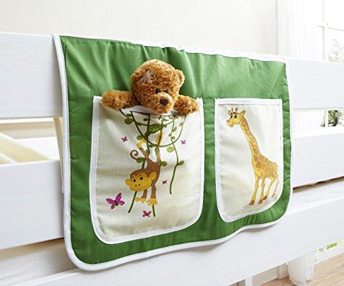 Tunnel + Betttasche Safari Dschungel 100% Baumwolle Stofftasche Baldachin Dach Bettdach Himmel für Hochbett Spielbett Etagenbett Kinderbett