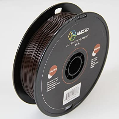 1.75mm Brown PLA 3D Printer Filament - 1kg Spool (2.2 lbs) - Dimensional Accuracy +/- 0.03mm