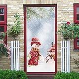 Gaddrt Christmas Türaufkleber Weihnachtsbaum-Tür-Abdeckung-Feiertags-Abdeckungs-Dekoration 30-Zoll durch 6.5-Feet 77x200 cm