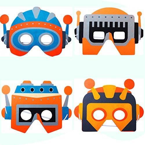 German Trendseller® - 8 x Roboter Masken aus Schaumstoff ┃ für Kinder ┃ Ideal zum Kindergeburtstag und (Maske Roboter)
