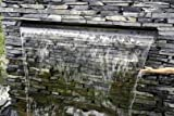 Aquafall 900 mm, Wasserfall aus Edelstahl, z. B. für Mauern