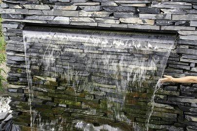 Aquafall 900 mm, cascade en acier inoxydable, par exemple pour les murs