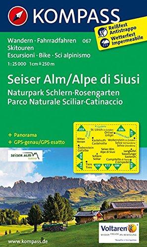 Carta escursionistica n. 067. Alpe di Siusi 1:25.000. Adatto a GPS. Digital map: Wandelkaart 1:25 000