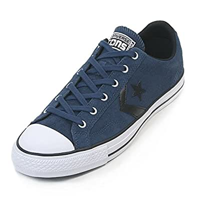 Converse Men's Star Player Ox Fundamental Suede Trainer Navy / White