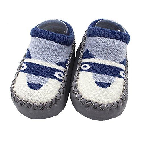 ❤️Amlaiworld Cartoon Toddler Enfants Bébé Anti-dérapant Sock Chaussures Bottes Pantoufle Chaussettes pour 0-4Ans