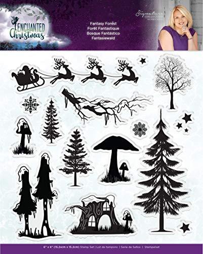 Crafter's Companion Sara Signature verzauberte Weihnachten-Acryl-Stempel, witziger Wald, mehrfarbig, Einheitsgröße -