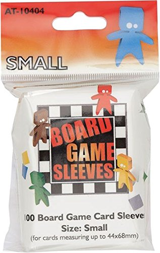 Asmodee-at-10404-Board Game Sleeves-Clear Small Fits Cards-44x 68mm