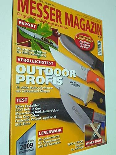 Messer Magazin Nr. 6 / 2009 Test: Böker Esxkelibur, CRKT Hole In One, Messerkönig Darkstalker Folder, Kiku King Cobra, Fontenille Pataud Laguiole XS, SOG Bluto. Zeitschrift, 4195012305505