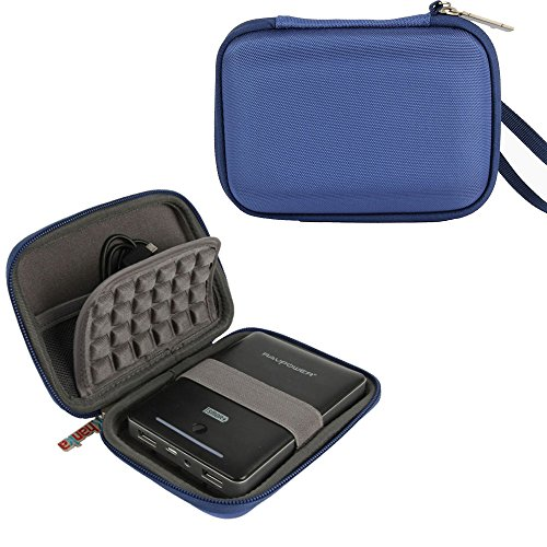 Khanka EVA Antiurto Custodia da viaggio Borse Custodia per WD My Passport Ultra Premium, Samsung M3 Portabile Esterno Disco rigido, Kingston MobileLite Wireless G2 dispositivo 5-in-1, RAVPower RP-WD01 FileHub Lettore Wireless SD -Blu