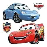 AG Design Disney Cars Wand Sticker, PVC-Folie (Phtalate-Free), Mehrfarbig, 30 x 30 cm