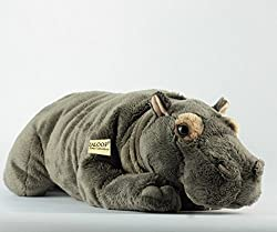 Zaloop Nilpferd liegend ca.42 cm Plüschtier Kuscheltier Stofftier Plüschnilpferd 4