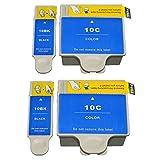 Compatible Remplacer pour Kodak 10XL 10 XL pour Kodak10XL pour Kodak10 pour Kodak-10XL pour Kodak-10 Cartouches d'encre Grande capacité Compatible avec Kodak ESP3/5/7/9/3250/5210/5250/7250/9250 Office 6150 EASYSHARE 5100/5300/5500 Hero 6.1/7.1/9.1 Cartouches d'encre pour imprimantes jet d'encre (2 Noir 2 Tri-couleur)