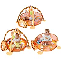 COSTWAY Spieldecke Spielbogen Krabbeldecke Erlebnisdecke Spielmatten Babydecke Laufstall ab 0 Monaten preisvergleich bei kleinkindspielzeugpreise.eu