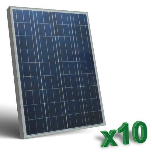 Conjunto de 10 Placa Solar Fotovoltaico 80W Total 800W Policristalino Placa Solar Fotovoltaico 80Wen silicio policristalino, ideal para abastecer a campistas, barcos, cabañas, casas de campo, sistemas de videovigilancia, puentes de radio, etc.  Car...
