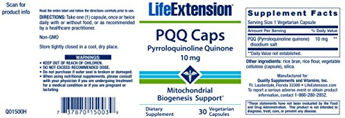 Life Extension PQQ Caps 10 Mg 30 veg capsules