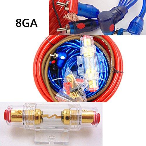 Auto Audio Verkabelung Subwoofer 1500W 8GA Verstärker AMP Verdrahtung Sicherungshalter Draht Kabel-Kit (Audio Kit Subwoofer)