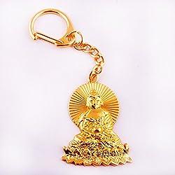 Feng Shui de oro Buda Amitabha llavero amuleto + libre Mxsabrina rojo cadena pulsera W1251