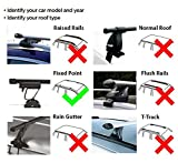 UKB4C Summit Roof Rack Cross Bars fits Mercedes C Class W204 07-14 + Coupe W205 14-16