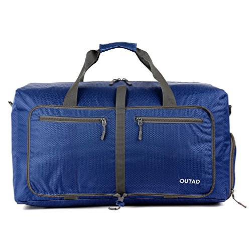 OUTAD Bolsa Plegable de Viaje/Deporte 50L (Azul)