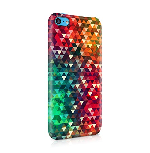 Triangle Rainbow Mosaic Boho Colorful Pattern Apple iPhone 5C Snap-On Hard Plastic Protective Shell Case Cover