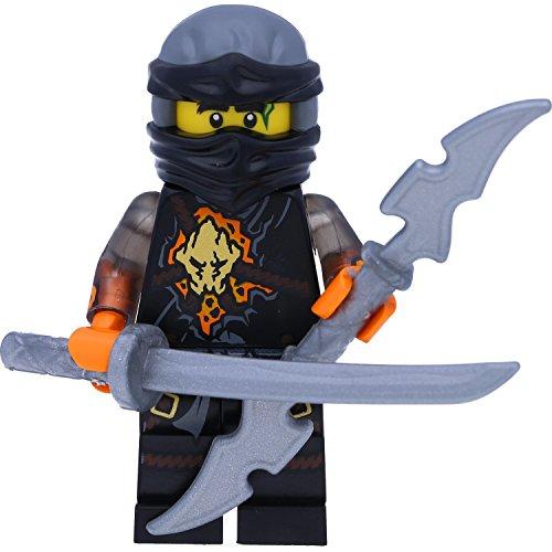 LEGO Ninjago Minifigur Ninja Cole RX aus Set 70589 Rock Roader incl. 2 GALAXYARMS Schwertern