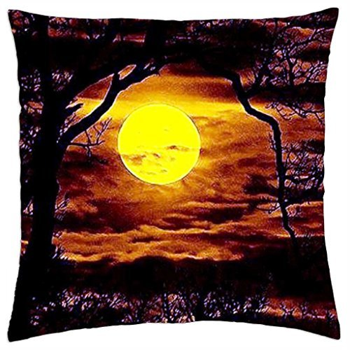 MOON BEAMS PEIRCING THE DARK VEIL OF THE FOREST - Throw Pillow Cover Case (18