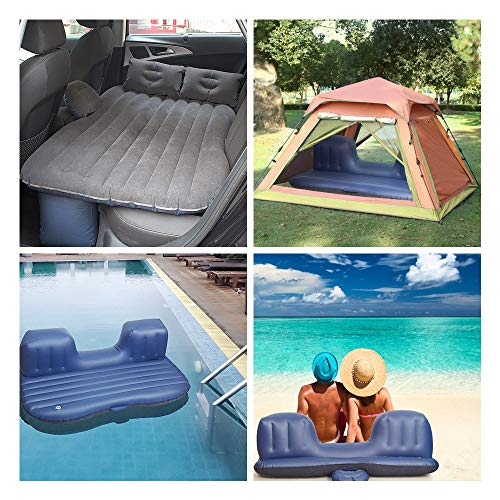 Tishnagi Designer Multifunctional Inflatable Car Bed Mattress with Two Air Pillows, Car Air Pump and Repair Kit (Multi Coloration) Image 7