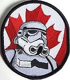Star Wars Kanada Flagge Schwarz Bordüre bestickt abzeichen Patch Aufnäher oder Eisen 10cm