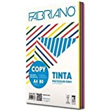 Carta in risma colorata Fabriano 250 fogli A4 80gr mix 5 colori forti [62621297]
