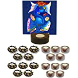 TYYC Home Decorative Candle Holders Diwali Gift Items Blissful Lord Ganesha Candle Tea Light Holder Set Of 101
