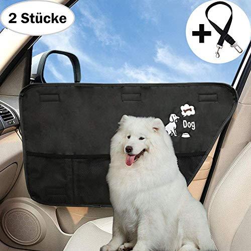 Hunde Autoschutz,Autotürschutz für Haustier,Seitenschutz,Tür Schutz für Hunde (Scwarz,2 Stück)  (Tür-schutz Für Hunde)