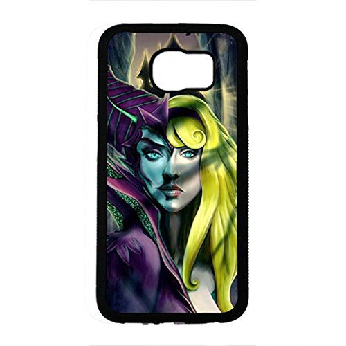 Preisvergleich Produktbild Artistic Design Maleficent Samsung Galaxy S6 Case,Maleficent Phone Case Black Hard Plastic Case Cover For Samsung Galaxy S6