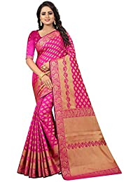 SATYAM WEAVES WOMEN'S ETHNIC WEAR BANARASI COTTON SILK SAREE. (KALYANI)