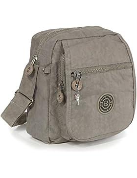 Umhängetasche stone, grau Nylon Crossover Schultertasche Bag Street OTJ218L