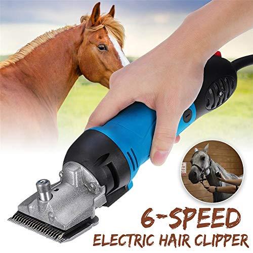 QZMX Clippers 350W Schermaschine für Pferde | Pferdeschermaschine Haarschneidemaschine | extra leise und laufruhig | Messersatz,6 Einstellbare Geschwindigkeit