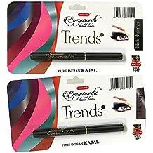 COMBO - K-Veda Eyeyurvedic Kohl Liner Trendz Black Shimmer + Subtle Taupe, Pure Indian Kajal