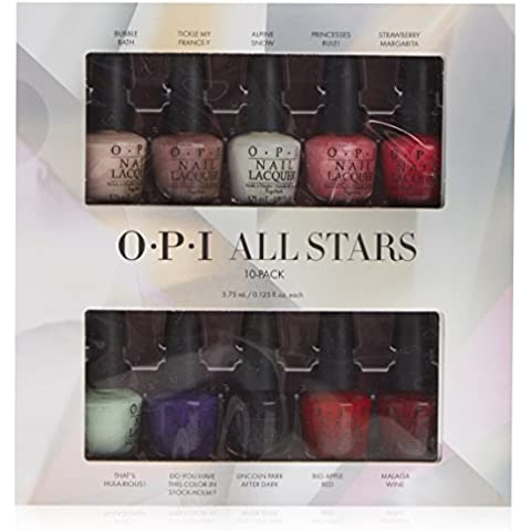 OPI Mini Kit Esmalte de Uñas, Tono All Stars Master  - 10 x 3.75 ml
