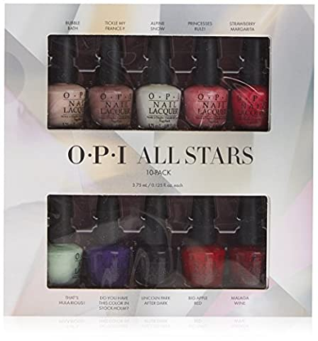 OPI All Stars Master Mini Kit de Vernis à Ongles 10 x 3,75 ml